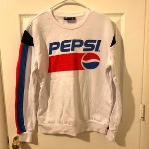 Pepsi striped crewneck sweatshirt